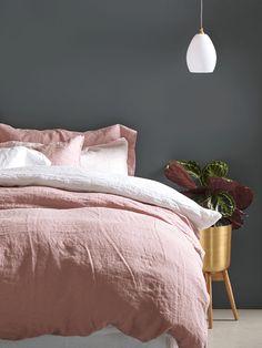Washed Linen Bedding - Vintage Rose