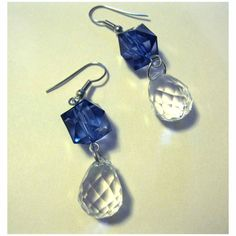 Blue earrings fashion drop dangle jewelry