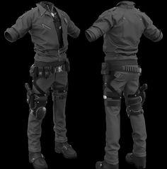 ArtStation - WIP----- Cyber Police, Zhang Yimin