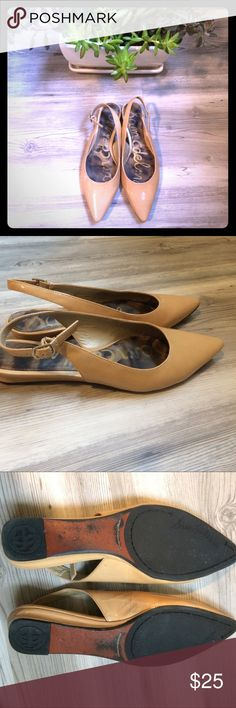 Sam Edelman Ionia sling backs Nude patent Ionia Slingbacks from Sam Edelman. Minimal wear and tear (see photos). Sam Edelman Shoes Flats & Loafers