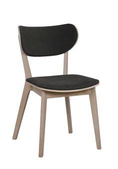 Cato-tuoli, Valkolakattu tammi, tummanharmaa istuin 006. Kato, Decoration, Plywood, Dining Chairs, Furniture, Home Decor, Products, Chair, Modern