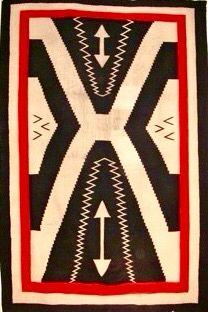 Navajo weaving, bold graphic