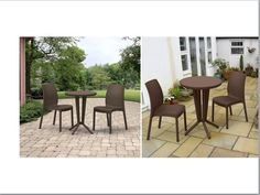 3 Piece Bistro Set Patio Chair Table Home Backyard Poolside Seat Party BBQ
