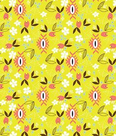 Flora A collection inspired by visions of Guatemala, with its timeless traditions, handwoven fabrics, and lush botanicals. Flora is a playful update of floral illustrations, modern geometrics, with a fresh color palette. 5 repeatable patterns for fabric, home décor, paper goods, ceramics, and more!