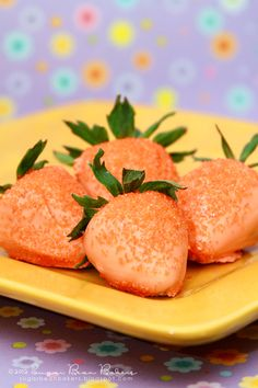 Carrot Strawberries for Easter