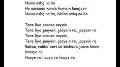 Ashq Na Ho (lyrics only), vocals Arijit Singh, from Holiday (2014)