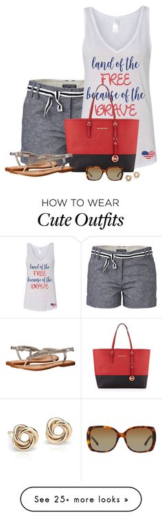 """Patriotic Summer Style"" by kginger on Polyvore featuring Tommy Hilfiger, MICHAEL Michael Kors, Naughty Monkey, Blue Nile and Burberry"