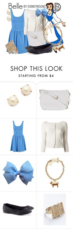 """""""Belle"""" by leslieakay ❤ liked on Polyvore featuring Disney, Kate Spade, Atmos&Here, New Look, Pinko, Joules, H&M, women's clothing, women and female"""