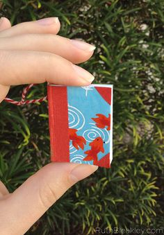 Miniature Book Ornament a fun gift for published authors - by RuthBleakley