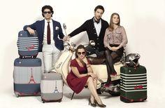 Dandy Nomad - housse pour valise - Protège les valises des chocs, leur offrent une seconde peau et surtout vous donnent du style - Cover case, protects against shock, style, original #french #frenchstyle