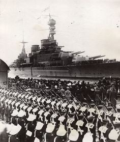 Battlecruiser Repulse arrived in Portsmouth after the cruise around South America and South Africa with the Prince of Wales on Board,1925
