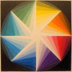 Interesting take on the color wheel, geometric art by Zanis Waldheims
