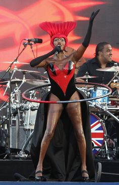 Wiggle it, just a little bit: Grace Jones knows how to make an impression.