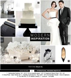 Wedding Inspiration Board Modern Black and White - Planche d'inspiration Mariage contemporain, noir et blanc - International Wedding Institute Wedding Suits, Wedding Dresses, Style Ethnique, Inspirations Magazine, Mood, Dress P, One Shoulder Wedding Dress, Marie, Wedding Inspiration