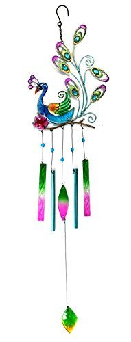 Bejeweled Display® Beautiful Peacock w/ Stain Glass Wind Chime Tubes Bejeweled Display http://www.amazon.com/dp/B00MLQZUOM/ref=cm_sw_r_pi_dp_G0syvb1ST3GX4