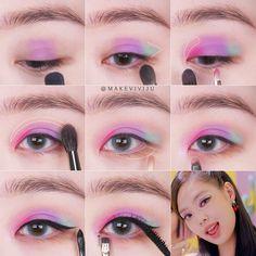 Face Paint Makeup, Eye Makeup Art, Eye Makeup Pictures, Freckles Makeup, Peach Makeup, Ulzzang Makeup, Kawaii Makeup, Korean Eye Makeup, Eye Makeup Designs