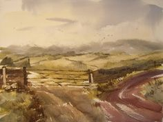 Watercolour landscape painting from a photograph - YouTube