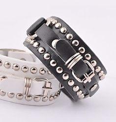 Punk Rivet Belt Buckle Bracelet