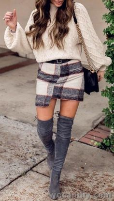Outfits * Cute Fall Winter Thanksgiving Outfit Ideas For Women – Women's Fashion Passion - Outfit Invernali Classy Winter Outfits, Cute Fall Outfits, Trendy Outfits, Cool Outfits, Casual Winter, Look Fashion, Fashion Clothes, Fashion Women, Fashion Outfits