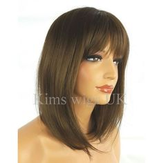 MEDIUM BROWN WIG LADIES WOMENS SHOULDER LENGTH LAYERED BOB FULL HEAD UK  SELLER LADIES WOMENS SHOULDER d1b9844986