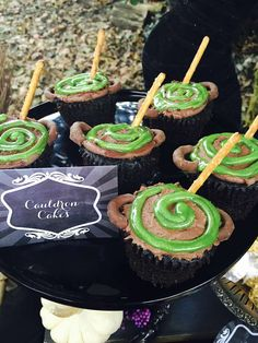 Cauldron cakes at a Harry Potter birthday party! See more party ideas at CatchMyParty.com!