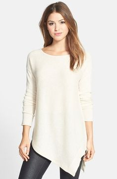 Keep an eye for this style- tunic length and asymmetrical - very flattering and creates hourglass