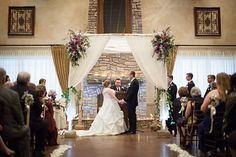 Photo from Kaylene + Mark collection by Matt Gaydos : Photography : Flowers, mantle, uplighting  and Chuppah by Karrie Hlista Designs