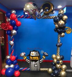 Sports Balloon Photo Frame Party Themes, Balloons, Frames, Halloween, Sports, Hs Sports, Globes, Frame, Excercise