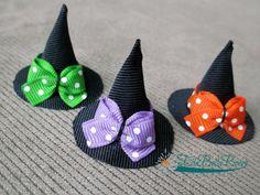 Halloween Witch Hat Ribbon Sculpture Hair Clip by EllaBellaBowsWI, $6.00