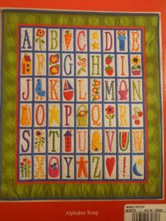 From book: Season Sampler by Cabbage Rose... cute with the letters and pics