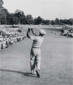The most iconic image in the history of golf: Ben Hogan's 1 iron at Merion.