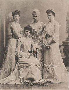 Thyra (of Denmark), Crown Princess of Hanover, later Duchess of Cumberland and her three daughters; Marie, Alexandra, and Olga.