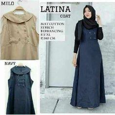 Baju Muslim Maxi Remaja Latina Coat Terbaru - http://bajumuslimbaru.com/baju-muslim-maxi-remaja-latina-coat