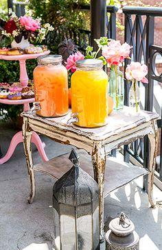 Moroccan Rooftop Brunch Launch Party--GrapeFruit/Orange Juice Pitchers