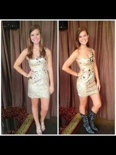 Texas girls can rock a dress with boots an heels!