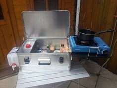 Outdoorküche Klein Wanita : Mobile camping küchenbox caddy tramper u.a. outdoorküche