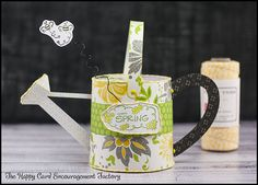 Happy Spring, everyone! I am happy it is Spring even though it still feels like Winter. But to get into the mood I made this delightful watering can. With the paper, cheeryLemon Tarttwine, and seasonal stamp fromUnity, this makes the perfect gift to stuff some candy in (maybe some of that leftover Easter candy you …