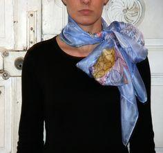 Pañuelo de seda pintado a mano  martadiezpañuelos
