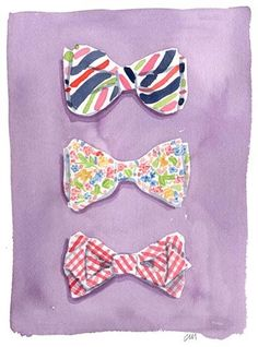 I love bows. Although, to be correct, these are ties, but who cares.. (Caitlin McGauley)