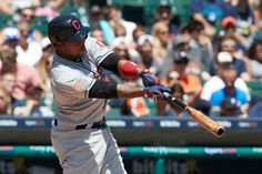 Cleveland Indians Jose Ramirez hits a three run home run against the Detroit Tigers in the fourth inning  in Detroit, Sunday, July 2, 2017. (AP Photo/Rick Osentoski) Indians won 11-8