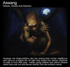 picture prompt: Aswang. You suspect your neighbour is an Aswang.
