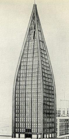 Bruno Taut, Chicago Tribune Competition, 1922