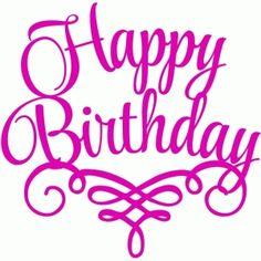 """Silhouette Design Store - Search Designs : """"happy birthday"""""""