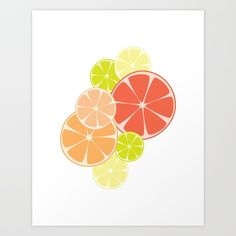 Brighten up any space like your kitchen or office with this citrus artwork, featuring all of our favorite citrus fruits, orange lemon lime grapefruit and tangerine!