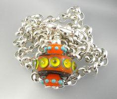 raked stacked dot beads   Bobbin Beads - Lampwork Etc.