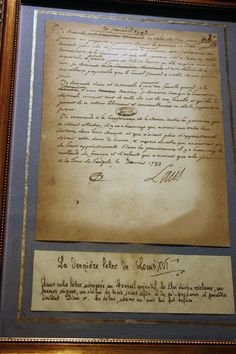 The last letter written by King Louis XVI before he was beheaded. Louis Xvi, Marie Antoinette, Bourbon, Ludwig Xiv, French Royalty, Maria Theresa, Palace Of Versailles, French History, Visit France