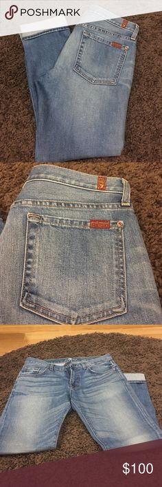 """7 For All Mankind relaxing skinny jeans New without tags, never been worn and in perfect condition! Size 28. Relaxed skinny style. 29"""" inseam. 7 for all Mankind Jeans Skinny"""