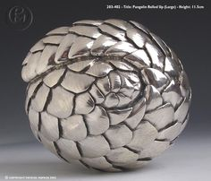 Patrick Mavros sculptures - armadillo rolled up Cape Dutch, African Sculptures, Armadillo, Artichokes, Silver Lining, Zimbabwe, Animal Jewelry, Luxury Jewelry, Pewter