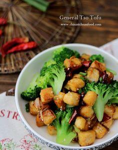 General Tso #Tofu use water or vegan stock.