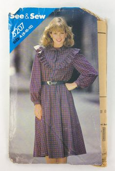 See and Sew  Butterick Sewing Pattern 5207 Misses Dress Size